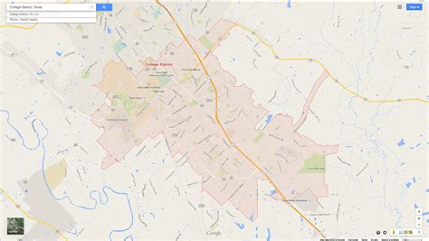 college station texas map