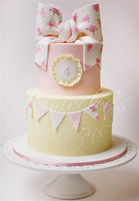 shabby chic baby shower cakes pretty birthday cake for a girl children s cake pinterest