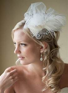 Bridal Fascinator Bridal Hat Feather Wedding Hair Accessory