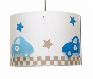 Luminaire Chambre Garçon : lustre gar on voitures en taupe et bleu fabrique casse noisette ~ Teatrodelosmanantiales.com Idées de Décoration
