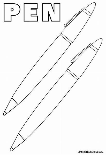 Pen Coloring Pages Pens Designlooter Colorings 78kb