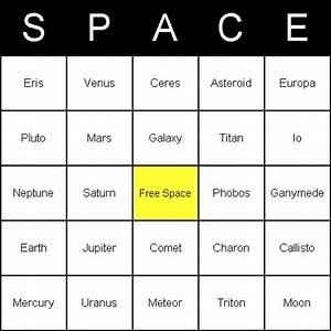 Bingo Card Examples