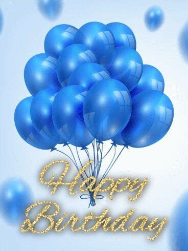 blue happy birthday balloons pictures   images