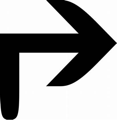 Arrow Right Corner Icon Svg Onlinewebfonts
