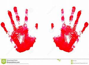 Red Handprints Royalty Free Stock Image - Image: 301736