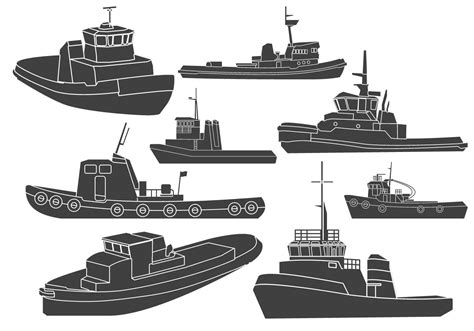 Tugboat Clipart by Tugboat Clipart Vectors Free Vector Stock