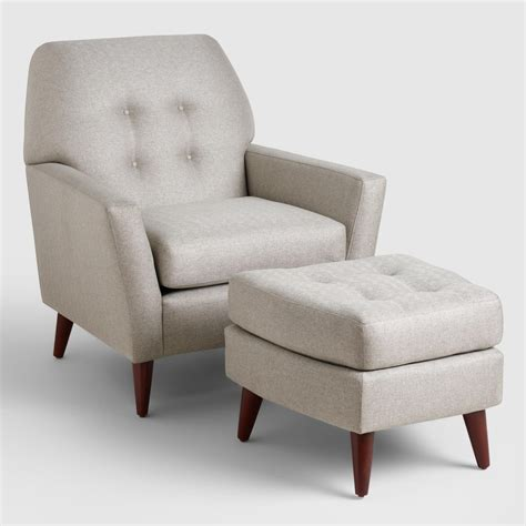 grey chair and ottoman vapor gray tufted arlo chair and ottoman set world market