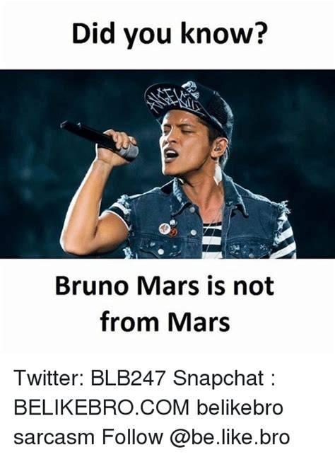 Did You Know Meme - funny bruno mars memes of 2017 on sizzle impersonable