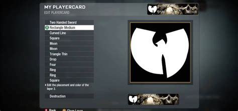 how to draw the wu tang logo in the call of duty black ops emblem editor 171 xbox 360
