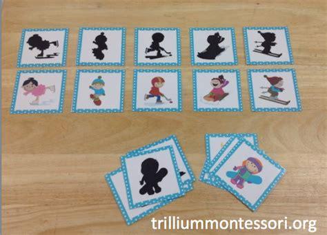montessori and preschool printables for winter trillium 964 | January Preschool Winter Sports Shadow Matching