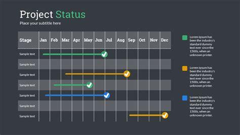 project status powerpoint  template  sananik