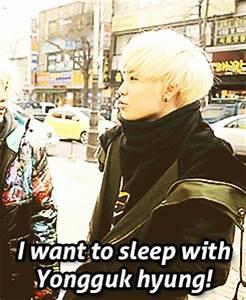When Zelo says he wants to sleep with Yongguk