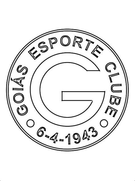 escudo  goias esporte clube desenhos  colorir