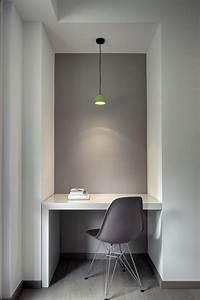 Grey Office Green Lamp Interior Design Center Inspiration