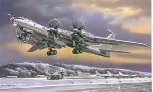 Russian Bombers TU 95 Bear Model