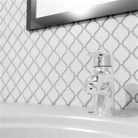 home depot merola tile provenzale lantern white merola tile arabesque glossy white 9 7 8 in x 11 1 8 in