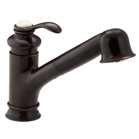 shop kohler purist oil rubbed bronze 1 handle pull out