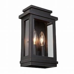 Home Depot Light Fixture Installation Artcraft 2 Light Oil Rubbed Bronze Outdoor Wall Lantern