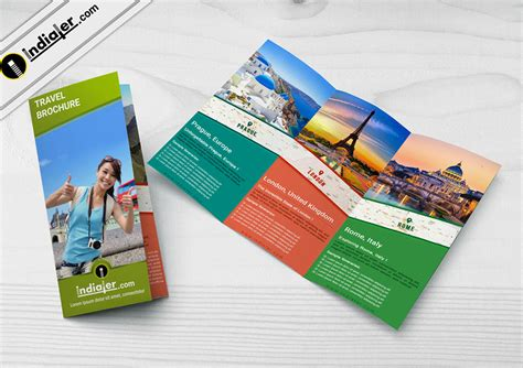 travel agency tri fold brochure psd template indiater