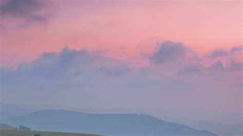 mq sky pink nature mountain morning papersco
