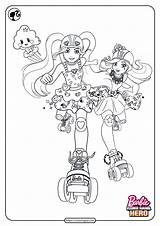 Coloring Barbie Printable Game Hero Coloringoo sketch template
