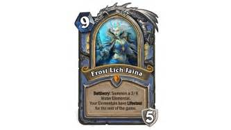 frozen throne cards hearthstone metabomb