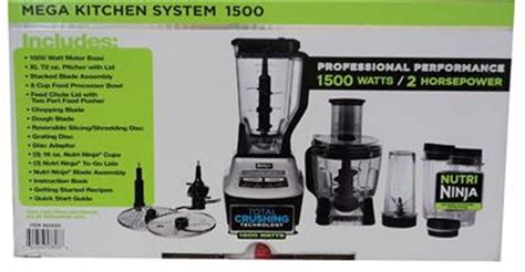 mega kitchen system 1500 accessories mega kitchen system bl773 1500w 2hp blender w nutri 8960
