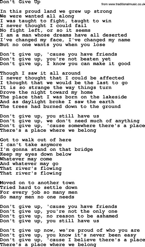 willie nelson song dont give  lyrics