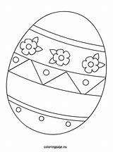 Easter Egg Printable Coloring Template Eggs Bunny Sheets Templates Eggrolls Coloringpage Eu Printables Pattern Shapes Colouring Clip Rabbit Related Drawing sketch template