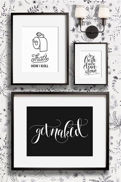 funny bathroom wall decor art prints printable art