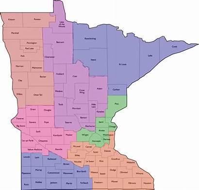 Mn Map District County Counties Minnesota Gfwc