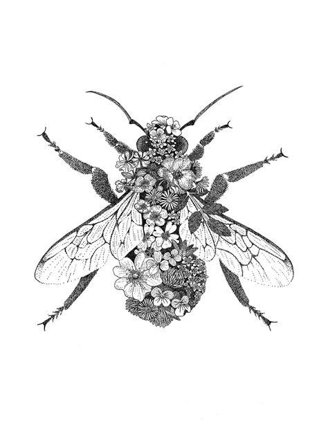 Floral Bumblebee || Leah Trengove | Bee art, Bee tattoo, Skin art