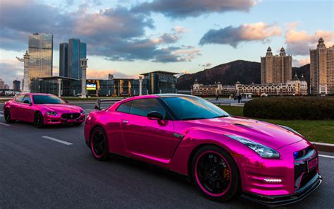 Gtr Chrome by Woah Chrome Pink Nissan Gt R Maserati Quattroporte