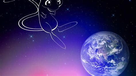 pokemon outer space stars earth mew wallpaper