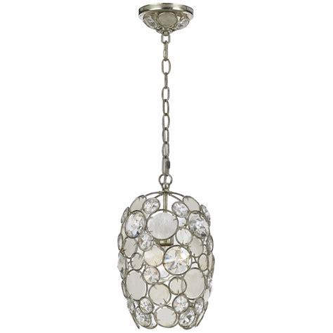 silver lantern pendant light palla antique silver one light mini pendant with natural