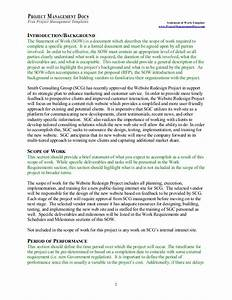 statement of work With how to write a statement of work template