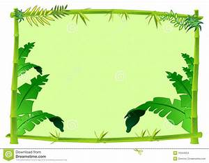 Bamboo And Jungle Frame Concept Illustration Stock Images ...