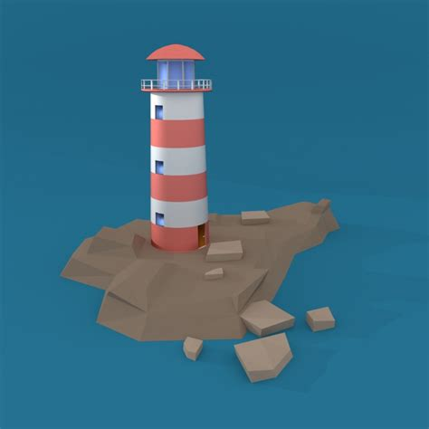 cartoon lighthouse  model