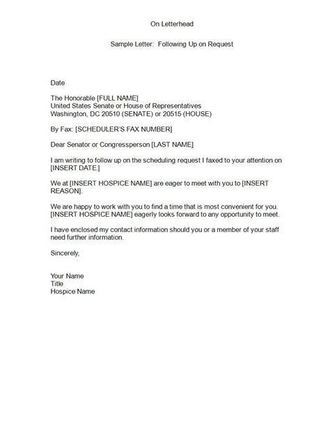 Follow Up Letters by 24 Follow Up Letters Pdf Doc Exles