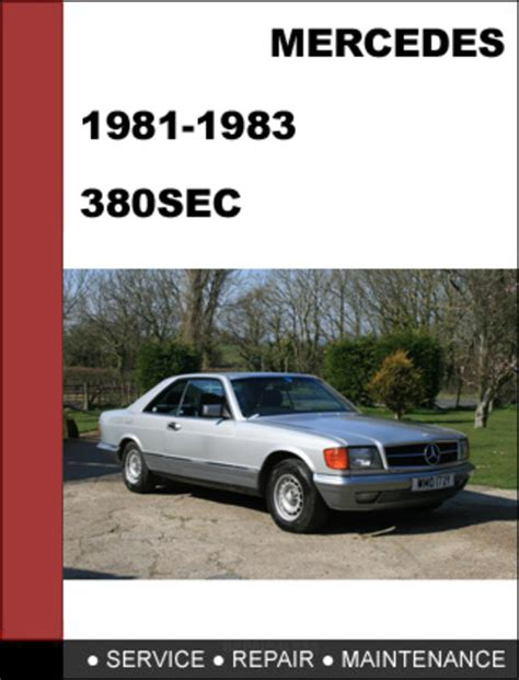 auto repair manual online 1983 mercedes benz w126 electronic throttle control mercedes benz 380sec w126 1982 1983 factory workshop service manual