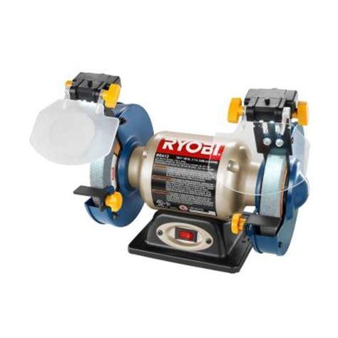 ryobi 6 inch bench grinder ryobi 6 in bench grinder with led light bg612 the home