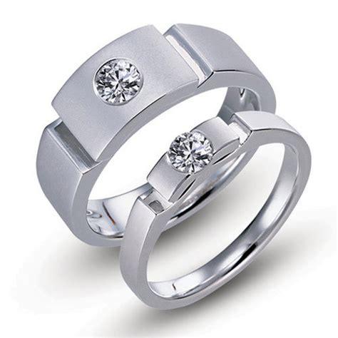 designer s titanium engagement ring couple rings set