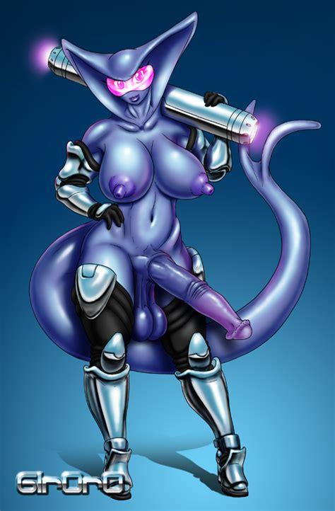 rule 34 alien alien girl armor big breasts blue skin breasts demon girl dickgirl full length