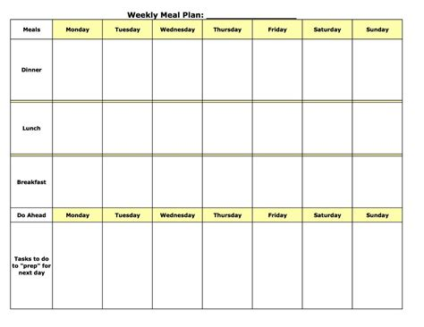 plan cuisine restaurant weekly meal plan template calendar template site