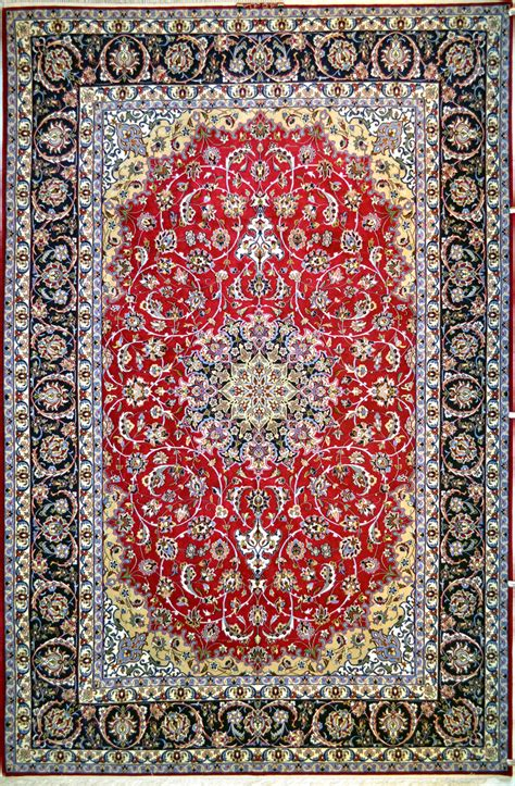 isfahan slimi silk persian rug item hf