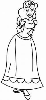 Coloring Tiara Princess Wear Sheet sketch template