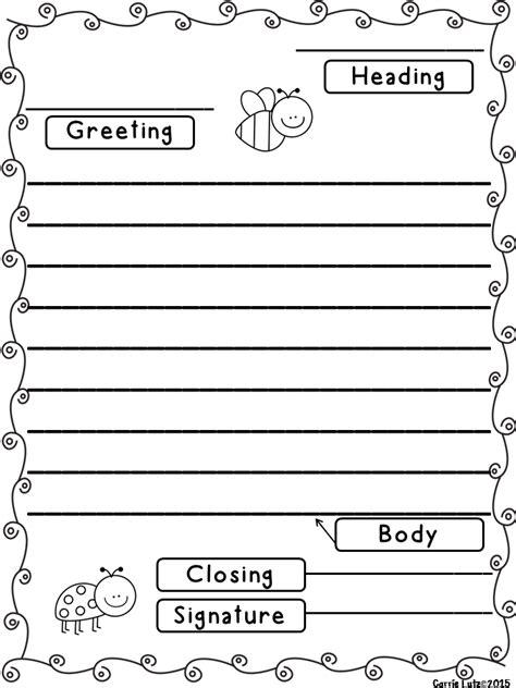 friendly letter templates  envelope