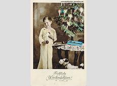 Alte Weihnachtskarten mit Frauen, Mädchen, Familien Alte
