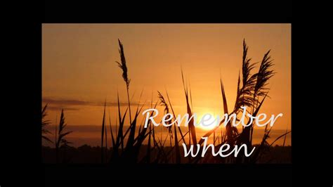 Remember When - Alan Jackson Lyrics - YouTube