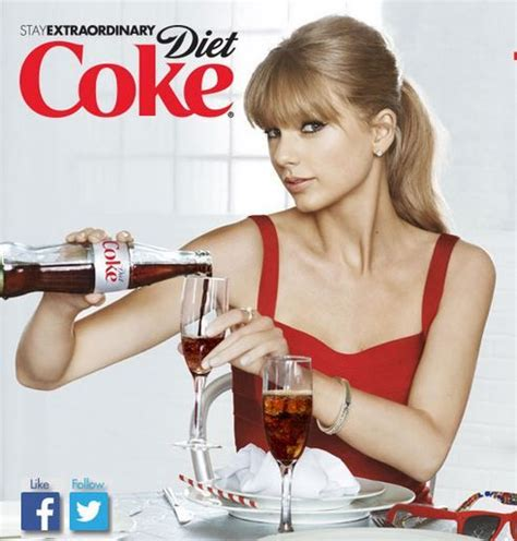 Taylor Swift Pouring Diet Coke Into A Glass With A New
